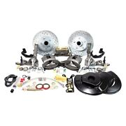 For Ford Fairlane 55-56 Brake Conversion Kit Legend Series Drilled And Slotted