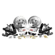 For Dodge Dart 63-76 Rallye Series Drilled And Slotted Front Brake Conversion Kit