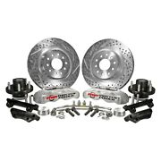 For Dodge Charger 70-72 Pro Driver Drilled And Slotted Front Brake Conversion Kit