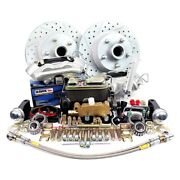 For Ford Mustang 64-69 Brake Conversion Kit Legend Series Drilled And Slotted