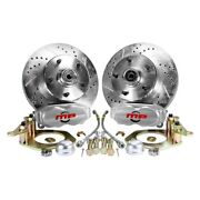 For Chevy Impala 58-68 Brake Conversion Kit Rallye Series Drilled And Slotted