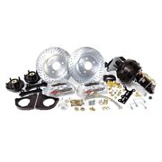For Chevy Camaro 67-69 Pro Driver Drilled And Slotted Front Brake Conversion Kit