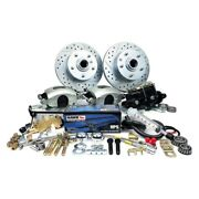 For Chevy Impala 58 Legend Series Drilled And Slotted Front Brake Conversion Kit