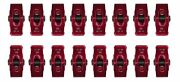 Small Block Chevy Aluminum Roller Rocker Arms 3/8andrdquo Stud Mount 1.51 Ratio Red