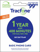 Tracfone 1 Year Plan - 365 Days/400 Minutes/400 Text/400mb Data