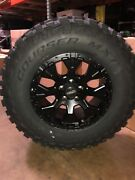 Helo He878 17x9 Wheels Rims 33 Mxt Mt Tires Package 6x5.5 Toyota Tacoma