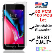 100x Wholesale Lot Tempered Glass Screen Protector For Iphone 13 12 Max 8 7 Plus