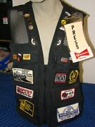 Domke Photogs Press Vest With Vintage Racing Pins And Patches