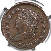 1812 S-291 R-2 Ngc Xf Details Classic Head Large Cent Coin 1c