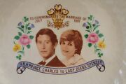 Australia Porcelain Plate Commemorate The Marriage Of Charles Diana