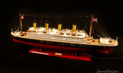 New Premium Rms Titanic Handcrafted Model Boat Cruise Ship 80cm With Lights