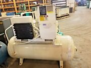 Used 15 Hp Ingersoll Rand  Rotary Compressor Tank Mount Open