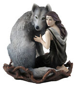 Soul Bond By Anne Stokesandnbspwolf Figure Statue Sculpture Collection