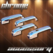 For 2015-2018 Ford F-150 High Gloss Chrome 4d Door Handle Cover Trim Overlay