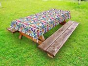 Fresh Produce Outdoor Picnic Tablecloth In 3 Sizes Washable Waterproof