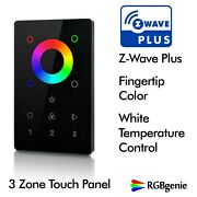 Z-wave Glass Touch Panel Switch In Wall Remote Rgbw Dimmer And Repeater 110v