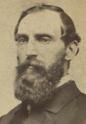 Civil War Era Cdv With Tax Stamp. Man With Beautiful Beard. Rochester N.y.