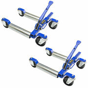 """Jackco 1500 Lb 12.5"""" Wheel Car Positioning Dolly With Ratcheting Pedal 2 Pack"""