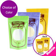 Multi-color Glossy Plastic Mylar Stand Up Zip Lock Pouch Bag W/ Round Corner M03