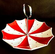 Rare Collectible 1950s Midwinter Stylecraft Pottery 8andrdquo/20cm Cake Stand