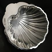 """Antique 1917 Baker Brothers Chester Hallmarked 5"""" Sterling Silver Shell Dish"""