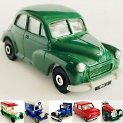 6 Die-cast Model Cars Ford Model T And Model A, Ss100 Jaguar, Morris Minor And Mini
