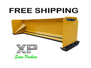 10and039 Xp30 Snow Pusher Boxes Skid Steer Bobcat Quick Attach Free Shipping - Rtr