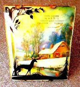 Vintage 1930's Holiday Silhouette Picture Advertising Gift - Ransom - Illinois