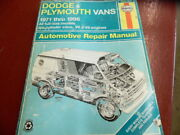 1996 Dodge And Plymouth Automotive Repair Manual For 1971 Thru 1996 By Haynes