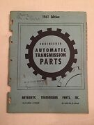 1961 Engineered Automatic Transmission Part Catalog Guide Book