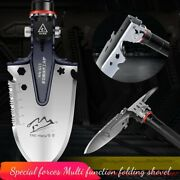 Outdoor Survival Tactical Folding Camping Shovel With Battle Axe Multitool 321