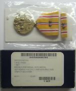Ww Ii U.s.asiatic Pacific Campaignmedalset In Box With 2 Battle Stars