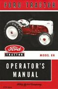 Oem Maintenance Ownerand039s Manual Bound For Ford Tractor 8n 1948-1952