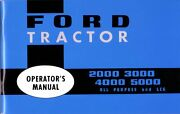Oem Maintenance Ownerand039s Manual Ford Tractor 2000/3000/4000/5000 1965-1975