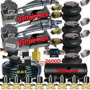 V 480 Air Compressors 1/2 Valves Air Ride Bags Tank 150 Psi Switch