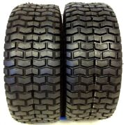 2 New 15x6.00-6 Turf Tires 4 Ply Tubeless For Garden Tractor / Rider / Mower