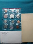 1969 S U.s. Mint Uncirculated Coin Set Sealed With Envelopeandnbsp 222
