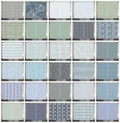 Grey Blue Curtains 2 Panel Set For Decor 5 Sizes Available Window Drapes