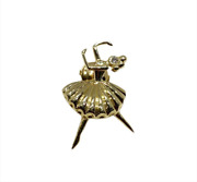 Vintage Designer French 18k Yellow Gold And Diamond Pin/broach - Mint Condition