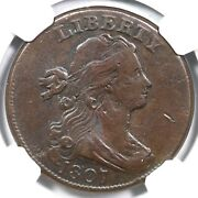 1807 S-274 R2 Ngc Vf Details Draped Bust Large Cent Coin 1c