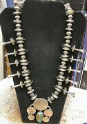 Sterling Silver Us Coin Squash Blossom Necklace