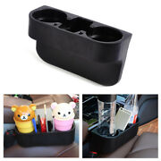Universal Car Seat Seam Wedge Cup Drink Holder Mobile Shelf Container Box Black