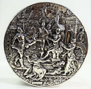 Antique German Solid Silver Table/snuff Box Museum Quality Circa 1850-1890