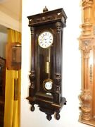 Smal Old Wall Clock Regulator With 1 Weight Dial Diameter 51 Inches