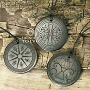 Mandala Carved Pendant Made Of Rare Energy Stone Shungite Which One Is Yours