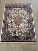 Unique Handmade Silk Persian Rug - New - Rectangle 5and0396x4and0391 - Made In Morrocco