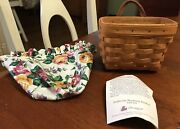 Longaberger Ambrosia Booking Basket With Liner 1995 And Product Card