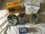 Pokemon Trading Card Game Two Box Sets Three Tin Sets And Rubber Band Loose Set.
