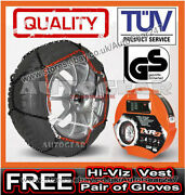 Tyre Tuv Approved 9mm Snow Chains 165/70 R15 + Hi-viz Vest,gloves And Mat-a5