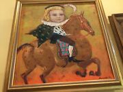 Pair Of Russianoils, Framed, Oil On Canvas, Circa2000, By Elena Palestova